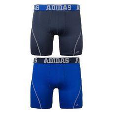 【Adidas】2018男時尚Climacool瑪瑙黑藍色四角修飾內著混搭2件組★預購