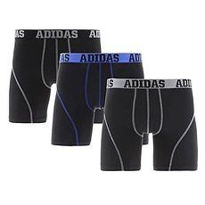 【Adidas】2018男時尚Climalite黑色四角修飾內著混搭3件組★預購