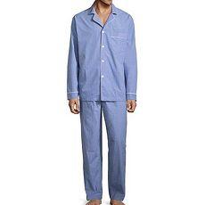Stafford 2018男時尚法國藍色系格紋棉睡衣套組★預購