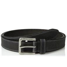 Timberland 2018男雙縫線古銀帶扣黑色大尺碼皮帶★預購52