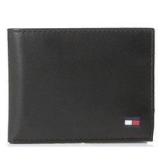 Tommy Hilfiger 2018男時尚Dore雙折黑色皮夾★預購
