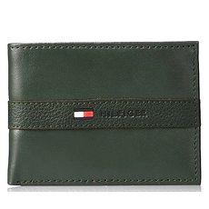 Tommy Hilfiger 2018男時尚Ranger浮雕帶標誌綠色皮夾★預購