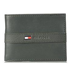 Tommy Hilfiger 2018男時尚Ranger浮雕帶標誌灰色皮夾★預購