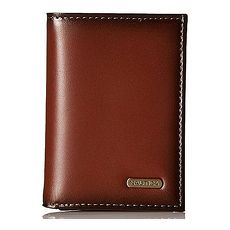 NAUTICA 2018男時尚金屬標誌Crunch褐色三折皮夾★預購