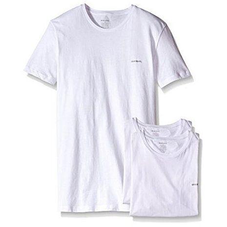 【Diesel】2018男時尚Jake白色圓領短袖內衣3件組(預購)