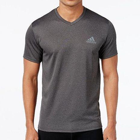 【Adidas】2018男時尚ClimaLite深灰色V領短袖ㄒ恤★預購