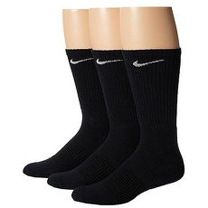 Nike 2018男舒適Dri Fit黑色中統運動襪3入組★預購