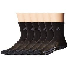 【Adidas】2018學童時尚黑色中?色塊運動襪6入組★預購