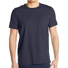 【Tommy Hilfiger】2018男時尚標誌深藍色圓領短袖內衣★預購