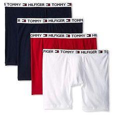 【Tommy Hilfiger】2018男時尚黑紅白色混搭四角修飾內著4件組★預購