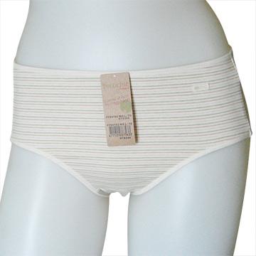 【黛安芬】Eco Chic裸紗原棉純粹平口褲(M-EL號/自然棕)L
