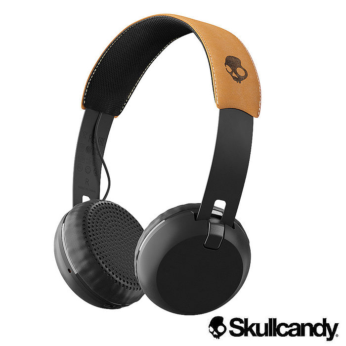 Skullcandy 骷髏糖 Grind葛萊 藍牙大耳罩式耳機-黑+麂皮色(公司貨)