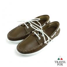 Travel Fox(男) STYLE-風格流行 素面牛皮帆船鞋 - 橄欖40
