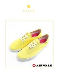AIRWALK(女) - 帆布鞋 SWEET繽紛輕柔感 純棉帆布鞋 - 蛋糕黃US6.5