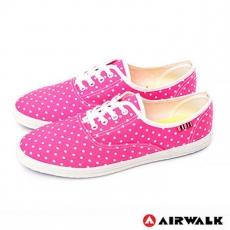AIRWALK(女) - 無敵點點 活力滿分休閒帆布鞋 - 點點粉點點粉 - 8