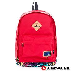 AIRWALK - 小豬後背包 彩漆世界 防潑水輕量尼龍後背包 - 繽紛紅