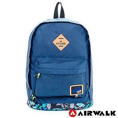 AIRWALK - 小豬後背包 彩漆世界 防潑水輕量尼龍後背包 - 塗鴨藍