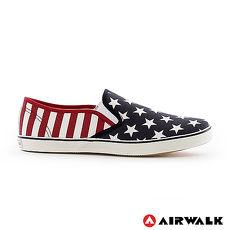 AIRWALK(女) - 大星星輕直套懶人紋帆布鞋 - 紅藍星7