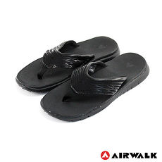 AIRWALK(男) - 發光體 性能強調彈力舒適夏日人字拖鞋 - 發亮黑
