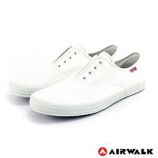 AIRWALK(男) - 就愛帆布鞋 鬆緊帶彈性帆布鞋 - 純白10