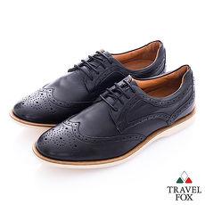Travel Fox select (男) 牛津物語 雕花時尚德比皮鞋 - 黑41