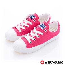 AIRWALK(女) - 可愛圓頭青春百搭帆布鞋 - 桃紅