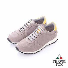 Travel Fox (男) - 溫度 反毛皮都會慢跑運動鞋- 淺灰43