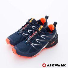 AIRWALK(女) - 雷電之光 撞色越野戶外運動鞋 - 桔閃藍7.5