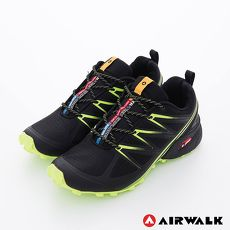 AIRWALK(男) - 雷電之光 撞色越野戶外運動鞋 - 綠閃黑10