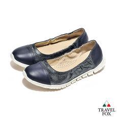 Travel Fox(女) 来自星星的鞋 轻量双料可弯式娃娃鞋 - 流星蓝