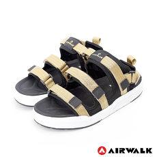 AIRWALK-魔鬼氈增高二穿式涼鞋-金色10