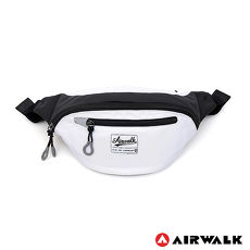 AIRWALK - 三角口袋 簡約輕便尼龍小腰包 - 白色