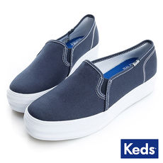 KEDS - TRIPLE DECKER 經典厚底帆布鞋-深藍7