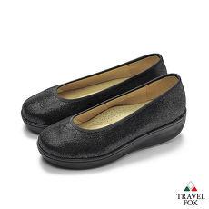 TRAVEL FOX(女) 輕量上班楔型鞋休閒鞋 - 黑