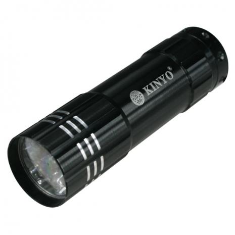 【KINYO】9 LED 鋁合金手電筒(LED-800)