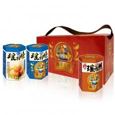 【幸福小胖】海洋王宮尊爵禮盒 原味2盒(每盒內含瑤柱燒x2+小卷x1)