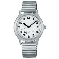 【agnes b.】經典再現復刻時尚限量腕錶-白x銀(VJ21-KR00S/BH8017X1)