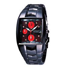 【ALBA WIRED】X.Love限量紅點三眼計時腕錶-黑紅(7T92-X143R/AF8M55X)