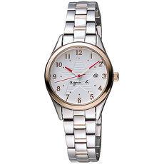 【agnes b.】限定低調閃耀星空女腕錶-29mm/金x銀 (VJ22-KR60KS/BH7013X1)