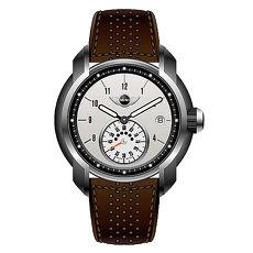【MINI Swiss Watches】簡約英倫風範單眼運動計時腕錶-咖啡x白(MINI-40)