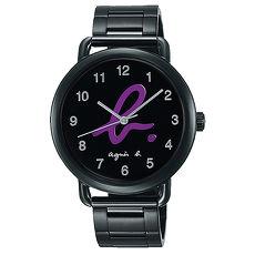 【agnes b.】經典LOGO海外市場限定時尚腕錶-紫/40mmVJ21-KX30P/BH8039X1