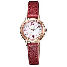 【CITIZEN 星辰】Wicca 廣告款 繽漾甜心時尚腕錶-酒紅23mm(KH4-963-10)