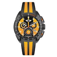 【MINI Swiss Watches】英倫風範運動計時腕錶-黃x黑(MINI-160102)-APP限定