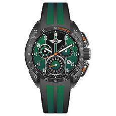 【MINI Swiss Watches】英倫風範運動計時腕錶-綠x黑MINI-160103-APP限定