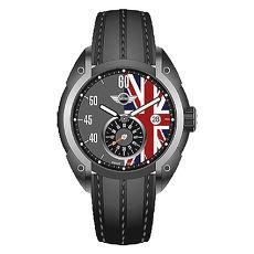 【MINI Swiss Watches】經典英國旗幟運動計時腕錶-黑x灰(MINI-160305)-APP限定