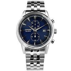 【CITIZEN星辰】光動能礦石強化玻璃日本機芯手錶CA7001-87L藍/43mm