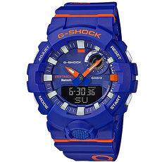 【CASIO 卡西歐】G-SHOCK 繽紛撞色指針運動錶-紫橘GBA-800DG-2ADR