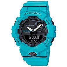 【CASIO 卡西歐】G-SHOCK顯色TIFFANY綠藍芽智慧運動錶GBA-800-2A2