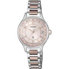 【CITIZEN 星辰】XC限量櫻花粉紅光動能腕錶廣告款EC1167-55W