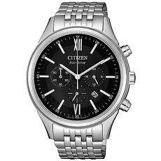 【CITIZEN 星辰】簡約奢華光動能男腕錶-銀CA4410-84E